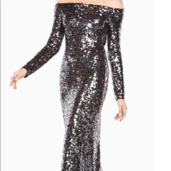 fb7476da4cc NWT BCBG -Pewter Sequin Gown